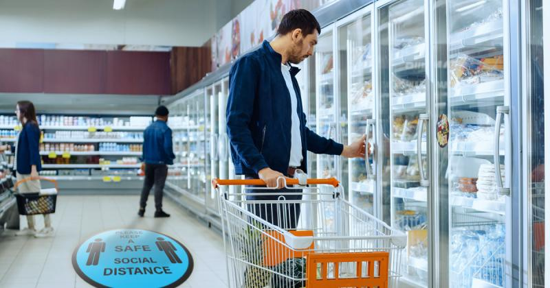 Grocery Store POP Social Distancing Displays and Aides